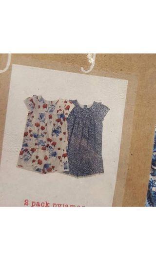 Next 2-pk Pajamas Size 9-12m