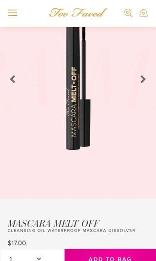 Too faced mascara melting brush