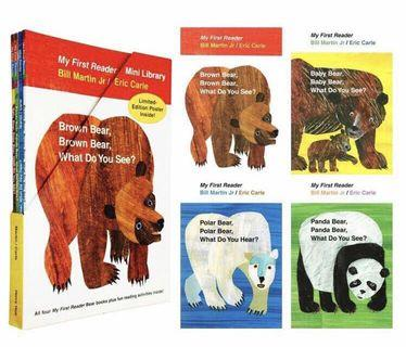 Eric Carle - My First Reader Mini Library / The Four Bears Series (4 books)