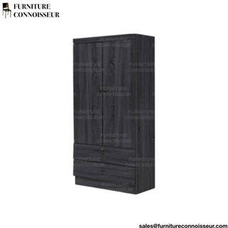 "29"" - 2 Door Wardrobe (Ashy Grey)"