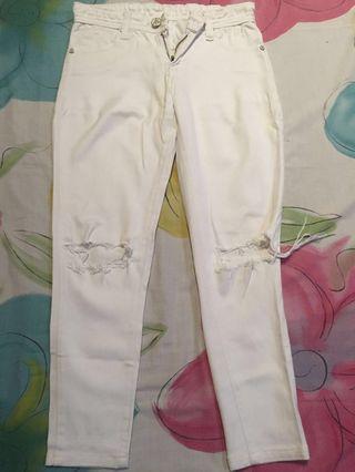 Ripped jeans prada