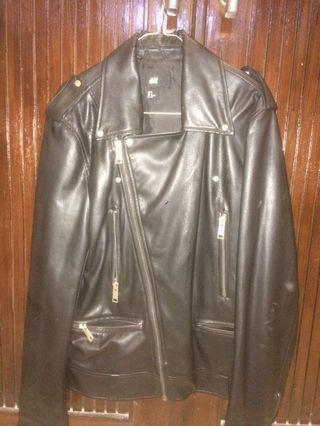 Black Leather Jacket / Jaket Kulit H&M