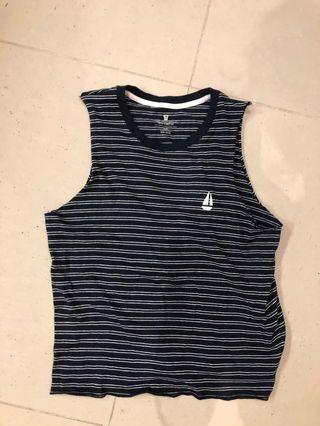 Cotton on nautical stripe muscle tank singlet