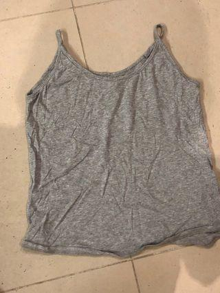 Nude Lucy grey cotton tank top singlet camisole