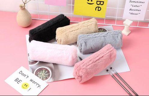 🚚 Furry & cute pencil case