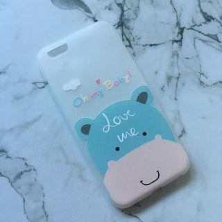 Soft Case Iphone 6/6s Hippo Blue
