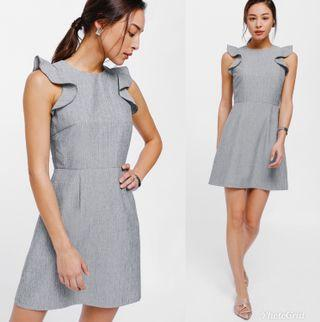 Lovebonito Duhesa Ruffle Trim Textured Dress
