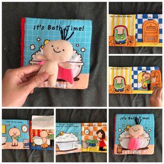 EUC sensory interactive kids book bath time