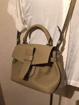Lancel Bag Charlie Nano Beige Leather