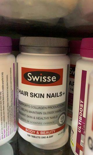 Swisse hair skin nails+ 藥丸💊100