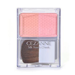 🚚 〔九成新 現貨〕Cezanne Cheek&Highlight 雙色腮紅帶刷 40g #02 Coral