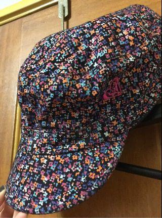 全新 roxy 絕版 軍帽 碎花 遮陽帽