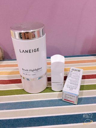 Laneige highlighter & lipstick