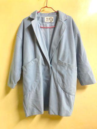 🚚 藍色西裝大衣外套