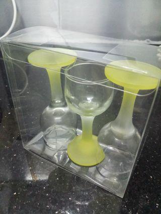八九十年代懷舊檸檬色洒杯