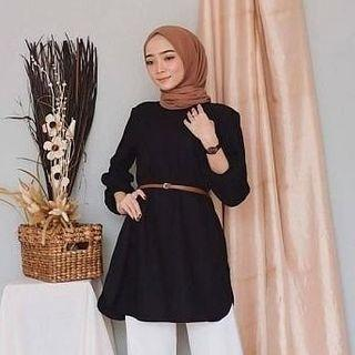 Blouse zet pink atasan wanita baju atasan hijab