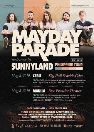 Mayday Parade: Welcome to Sunnyland Ph Tour in MNL