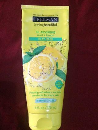 Freeman Oil Absorbing Mint + Lemon Clay Mask