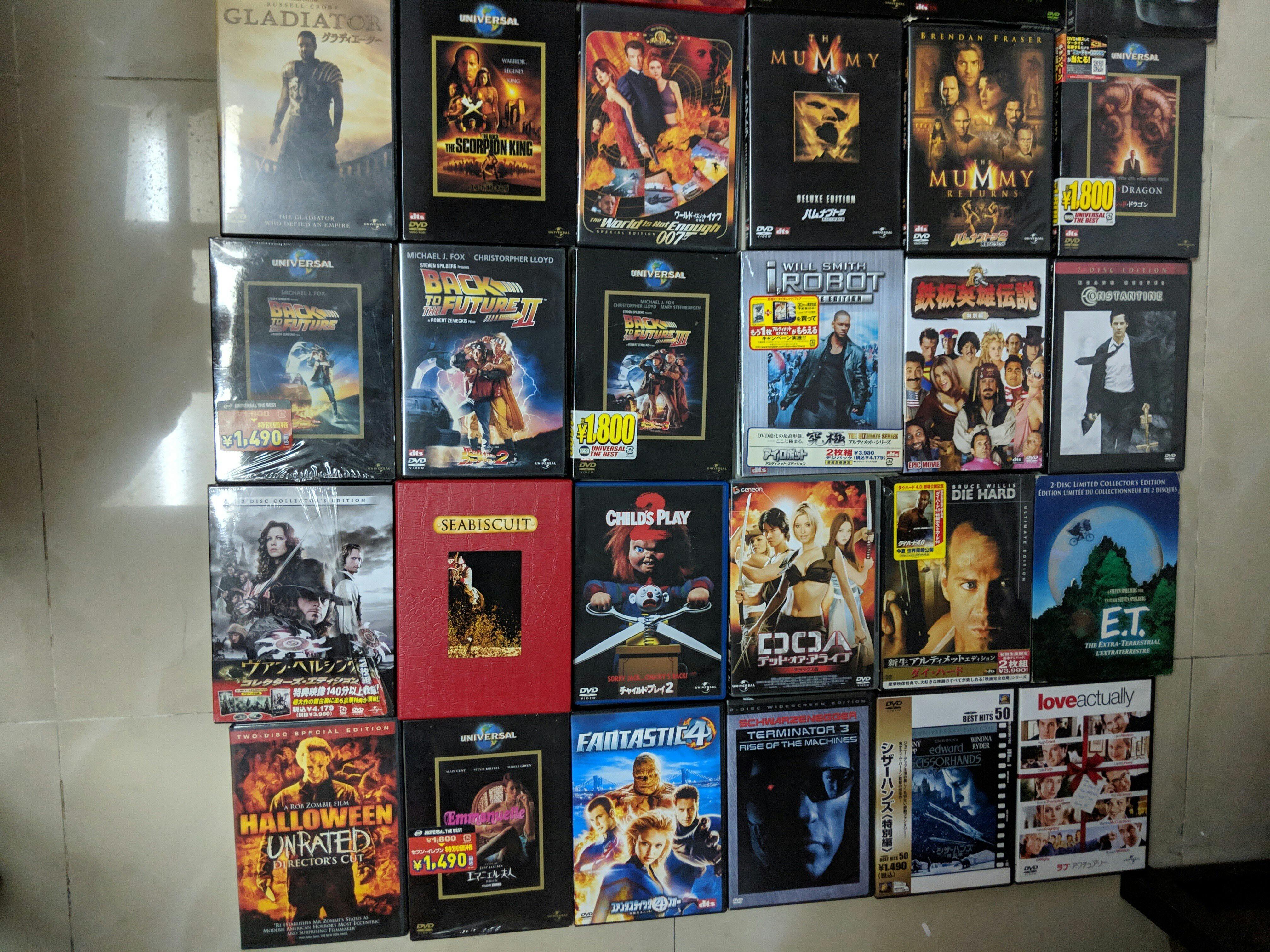 $100 任揀十隻1區 2區 DVD 單選$20一隻 (不求質素)|