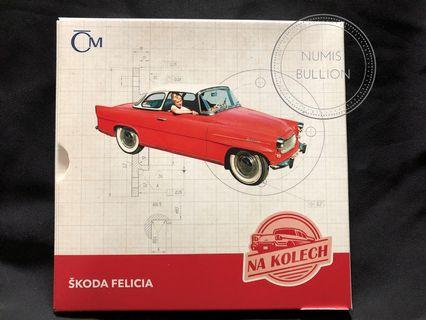 Skoda Felicia On Wheels 1 Oz Silver Coin