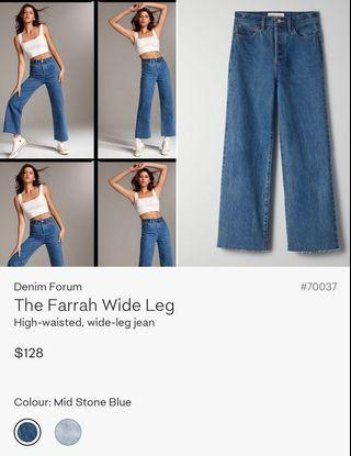 Aritzia Denim Forum Farrah Wide Leg