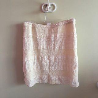 Supre cream lace mini skirt