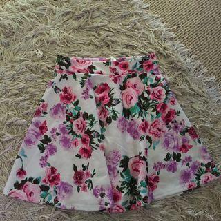 Nasty Gal floral skater skirt
