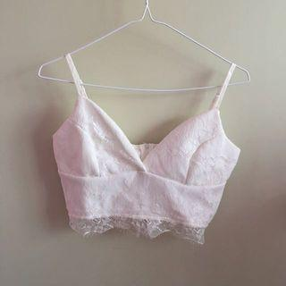 Supre white lace crop top