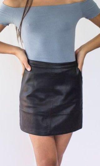 FOREVER NEW black leather skirt