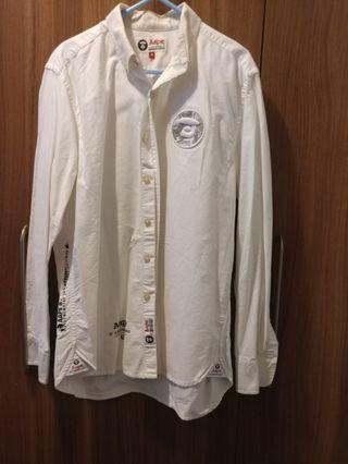 100%正版Aape 白色恤衫