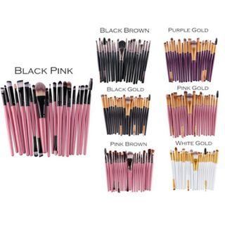 Ready stock 20 Pcs Make Up Brush Set makeup brushes set