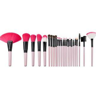 Ready Stock 24 Pcs Make Up Brush Set with Pouch makeup travel set