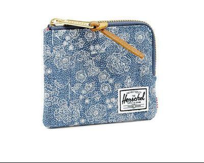 Herschel Johnny Zip Floral Chambray Wallet