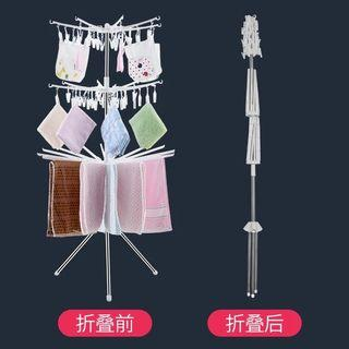 Clothes drying clip rack