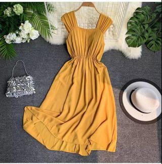 BNWOT Yellow Summer Dress