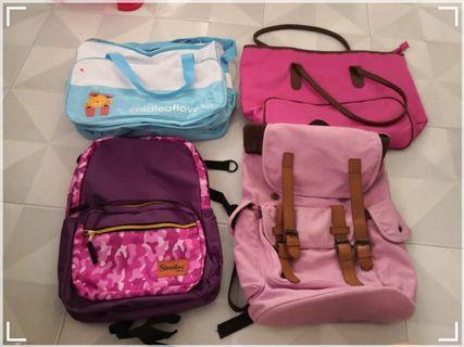 Baby bag/sling bag/backpack