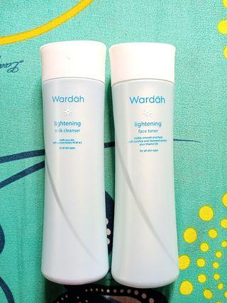 Wardah milk cleanser dan toner