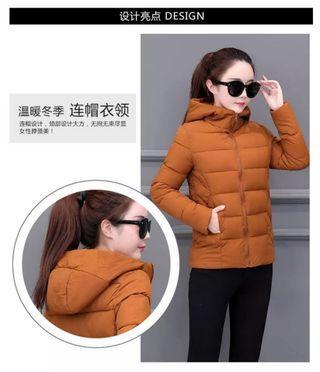 Winter jacket/women/girl/brown/cap