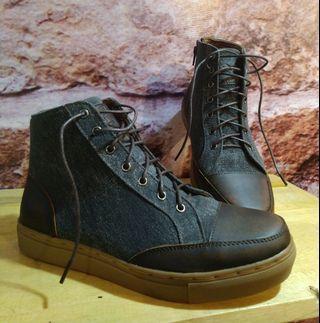 Sepatu kulit kanvas original piede replika exodos