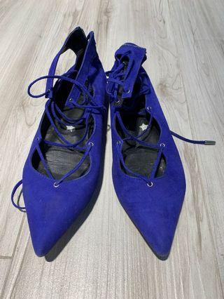 Red Pedder purple shoes 90% new