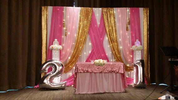 Birthdays / Solemnisation / Wedding pelamin
