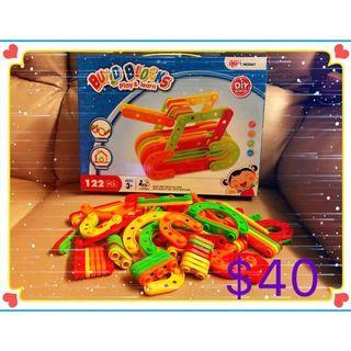 幼兒/兒童益智玩具 親子遊戲 122片創意積木 $40