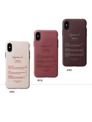 簡約文字iphone軟殼手機殼