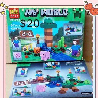 幼兒/兒童益智玩具 親子遊戲 我的世界積木 $20