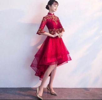 [IN STOCK] Red Wedding Gown