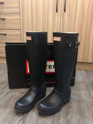 Hunter高筒雨鞋(黑色)