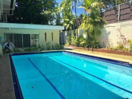 FORE RENT : Dasmariñas Makati City 4BR 5CR with Swimming Pool, Den and Lanai
