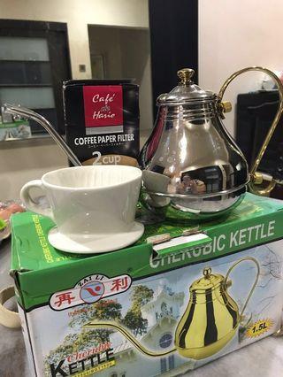 Manual coffee maker Teapot set 手冲咖啡