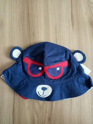 寶寶漁夫帽 深藍 熊熊款