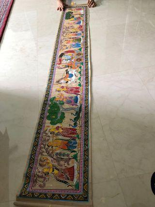 🚚 Hand Painting on raw silk - pattachitra